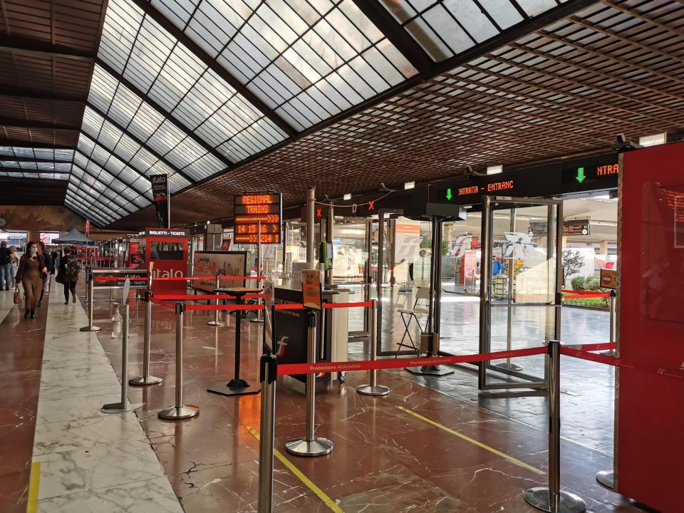 フィレンツェ中央駅 イタロの乗り方