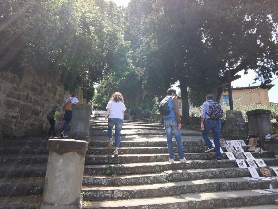フィレンツェ ミケランジェロ広場 階段