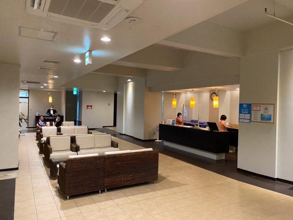 ムーンビーチホテルの大浴場受付