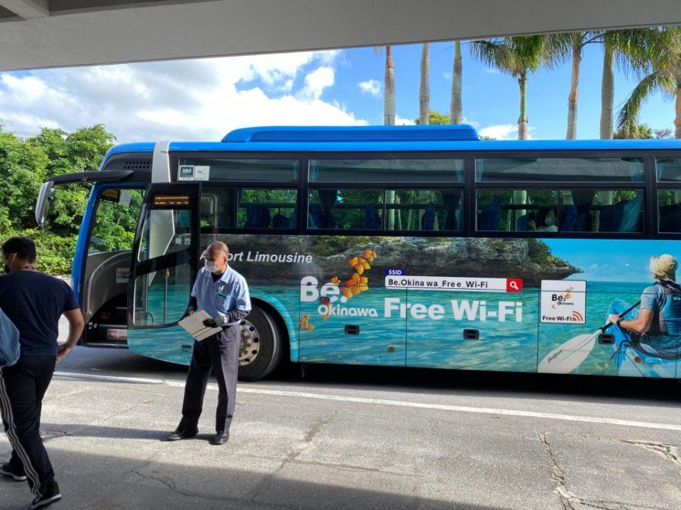 ムーンビーチホテル発着の空港バス