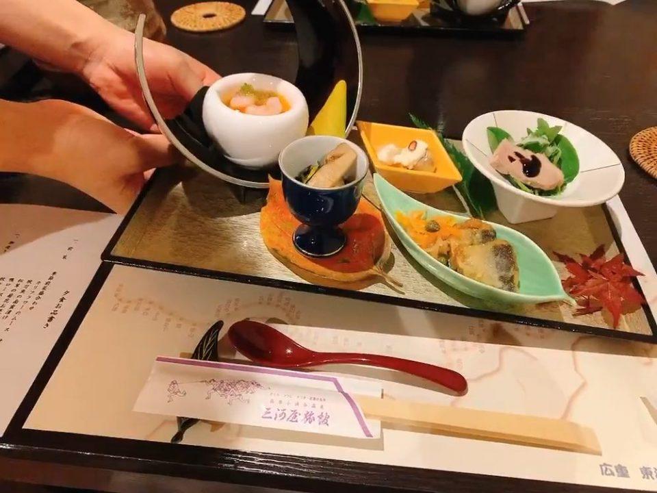 箱根 三河屋旅館 夕食 ブログ