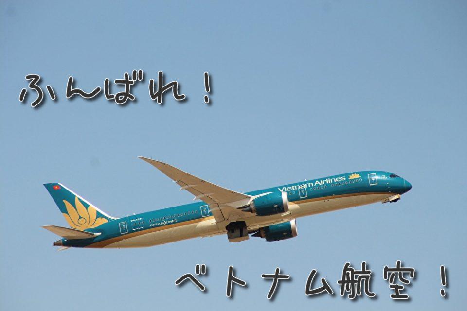 ベトナム航空の機体の写真です