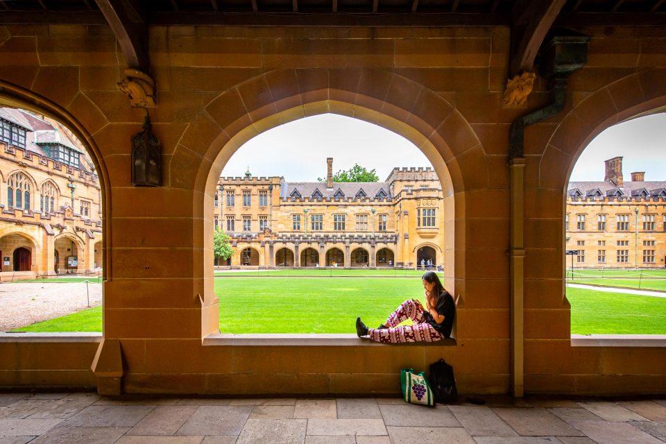 シドニー大学の中庭