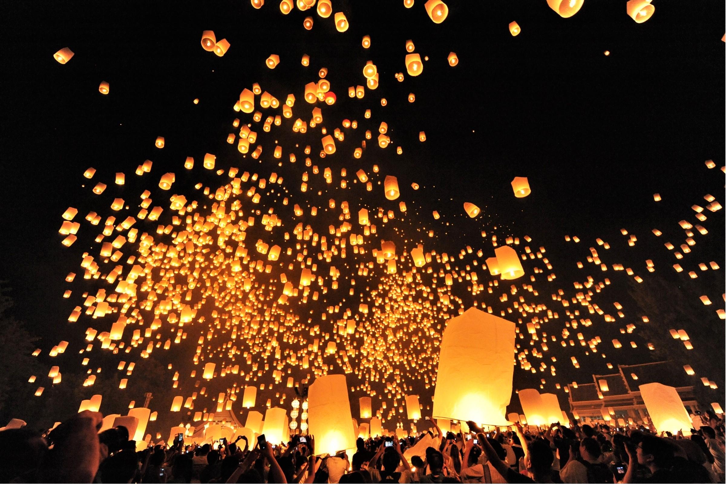タイ ランタン祭り コムローイ