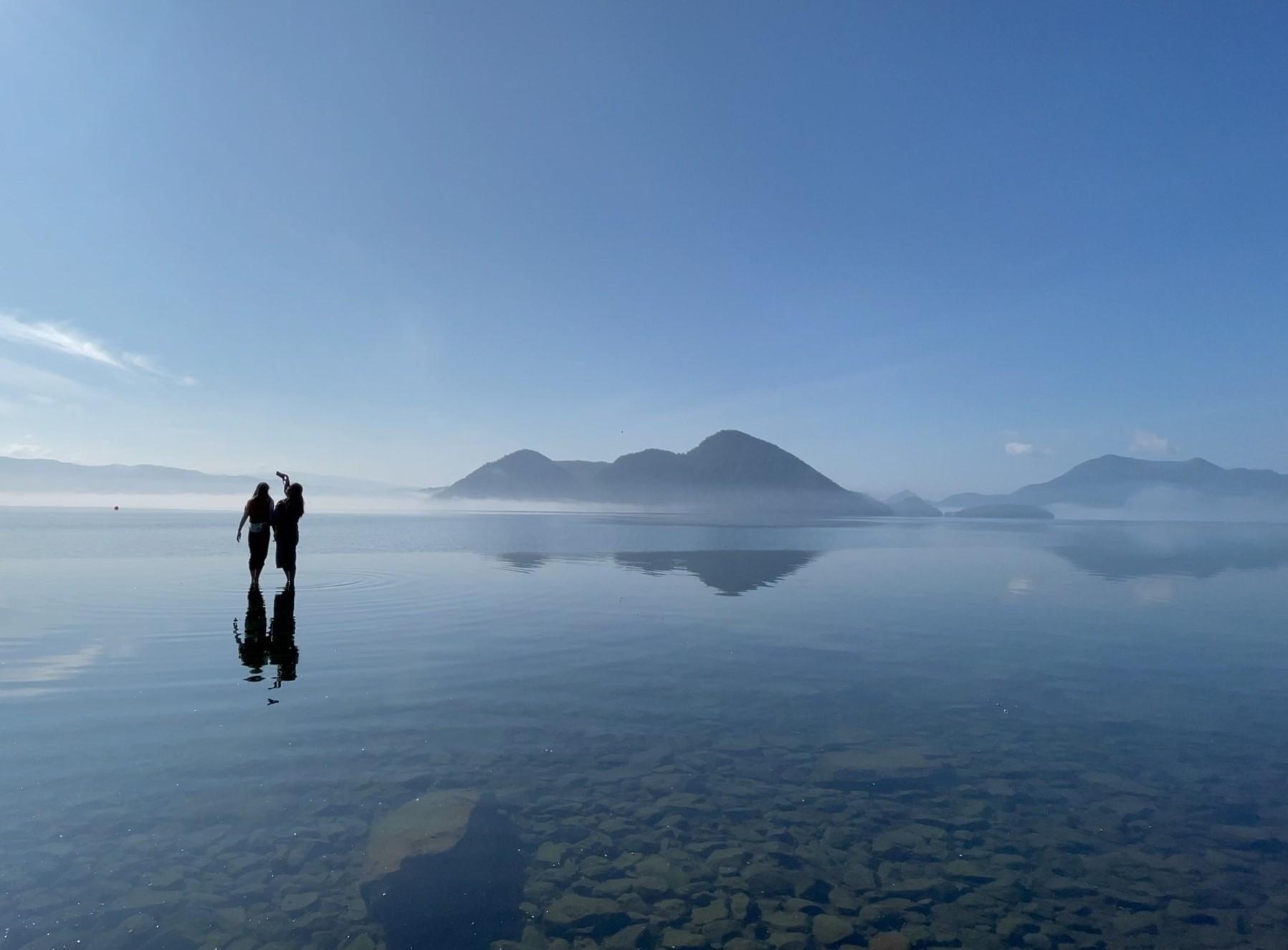 日本のウユニ塩湖 洞爺湖 モーニングカヌー