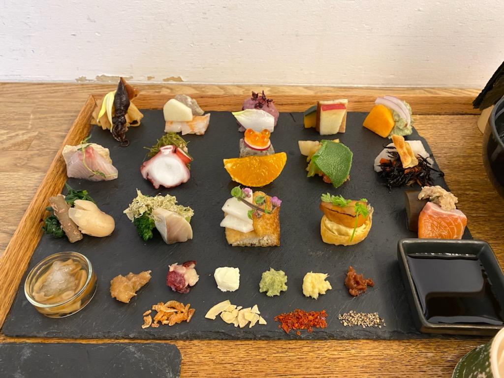 京都ランチ 手織り寿司