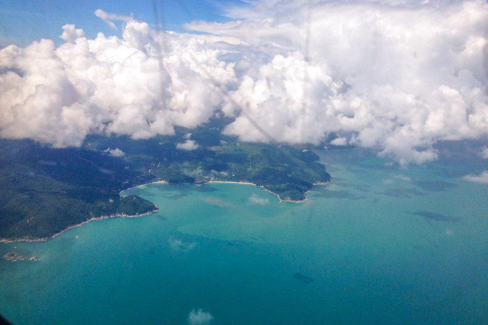 サムイ島 上空
