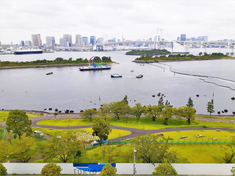 東京パラリンピックのオブジェ 撤去