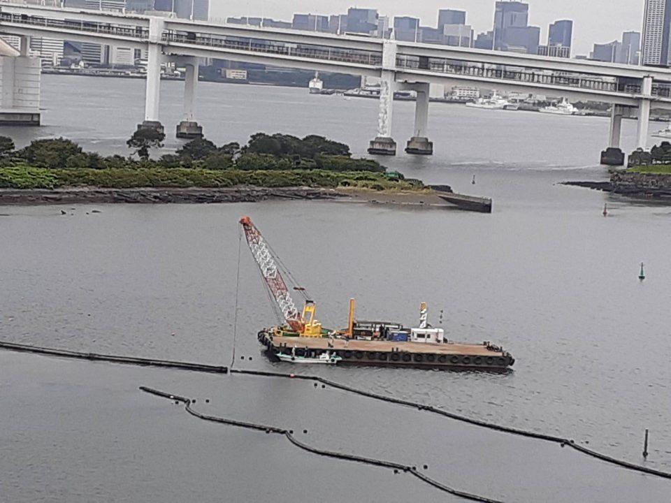 東京パラリンピックのオブジェ撤去