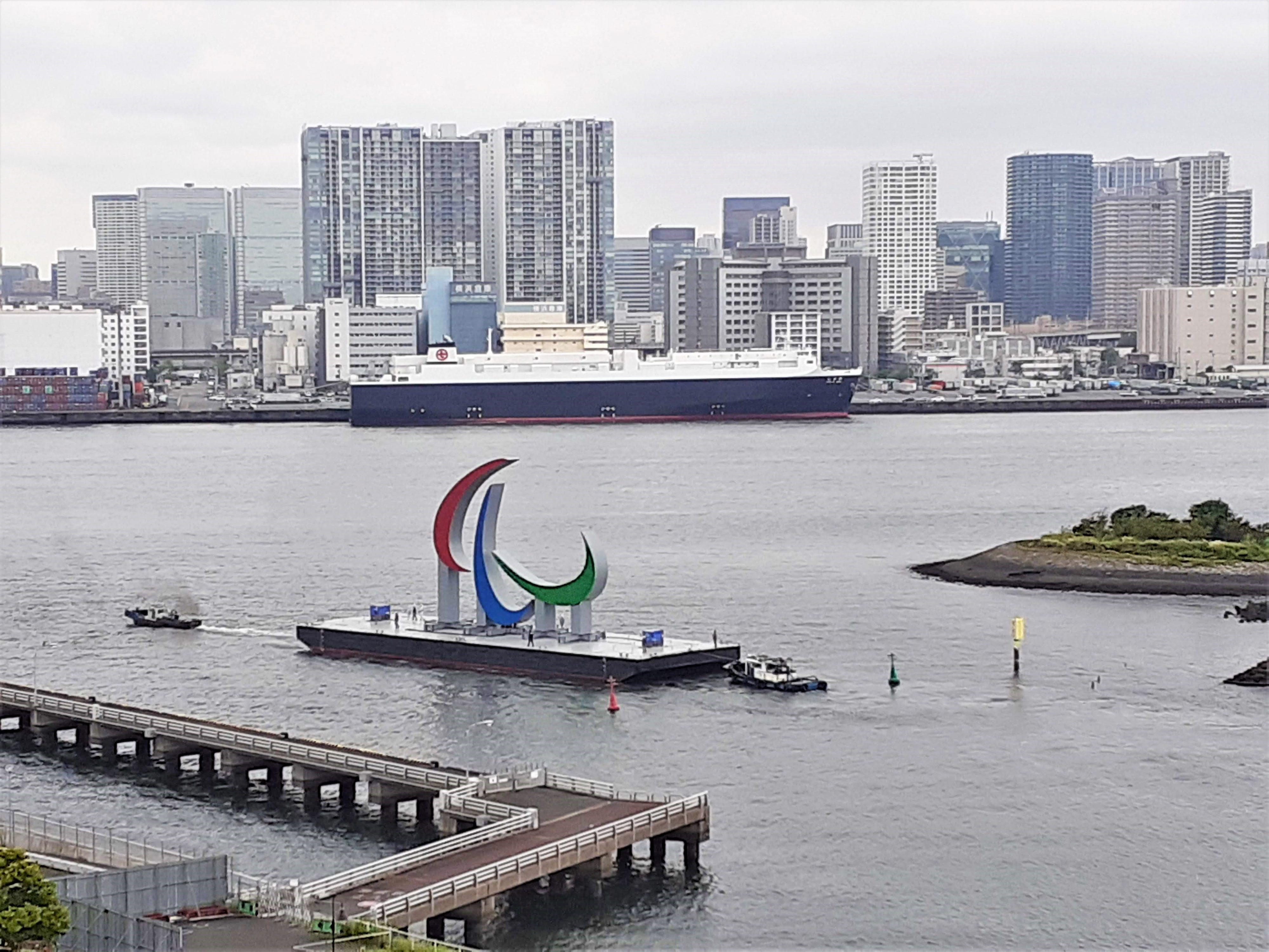 東京パラリンピックのモニュメント撤去