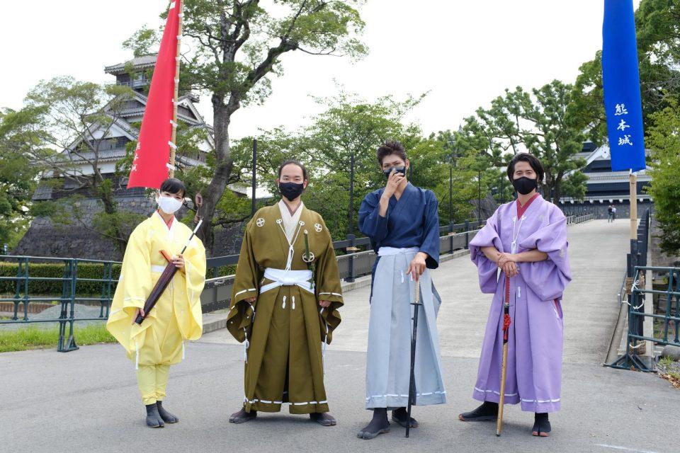 熊本城入園後に出会ったキャストさんたち