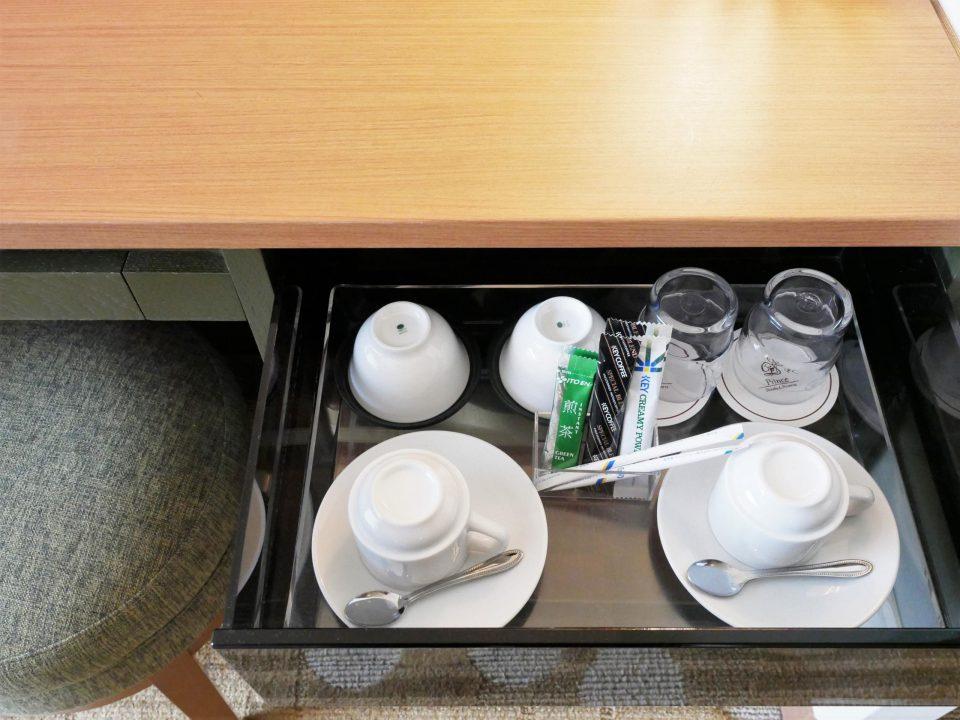 部屋のお茶・コーヒーセット
