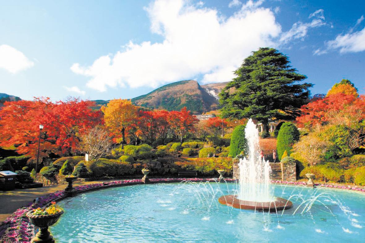 箱根の紅葉名所2021の見ごろ 箱根強羅公園の紅葉
